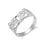 Sterling silver Cubic Zirconia ID MUM ring